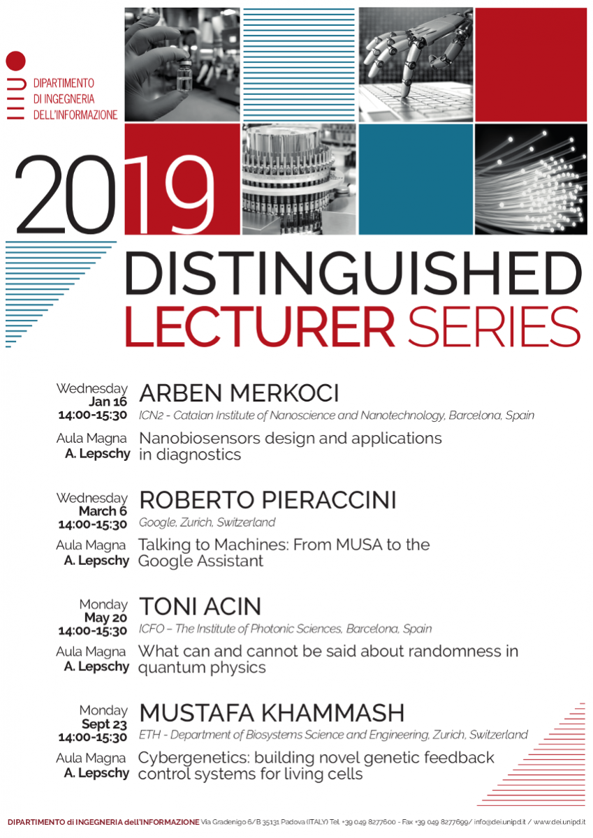 Distinguished Lecturer Series 2019 Poster